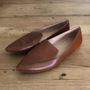 Madewell Lou Loafer Cognac Leather Flats 8.5 Shoes